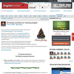 50 holiday activities for Teaching English