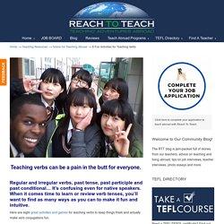 8 Fun Activities for Teaching Verbs