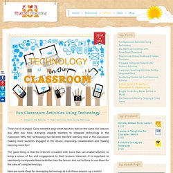 Fun Classroom Activities Using Technology