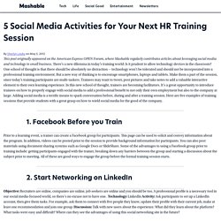 5 Social Media Activities for Your Next HR Training Session