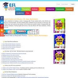 ESL Activities, Using Videos, Movie worksheets for TEFL