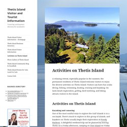 Activities on Thetis Island - Thetis Island Visitor and Tourist Information