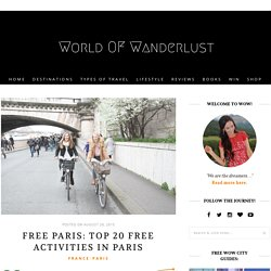 Free Paris: Top 20 Free Activities in Paris