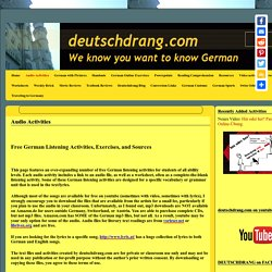 Free German listening activities with audio files & worksheets