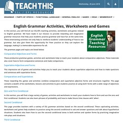 ESL EFL Teaching Activities, Worksheets, Lessons