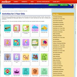 Activities for 3 Year Olds – Free Online Activities for Three Year Olds