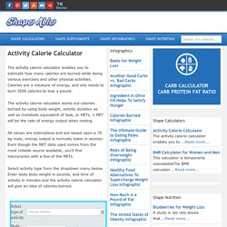 Activity Calorie Calculator