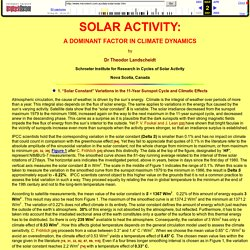 Solar Activity: A Dominant Factor in Climate Dynamics