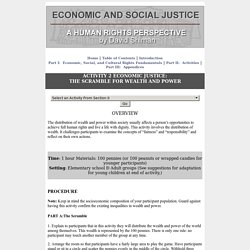 ACTIVITY 2 ECONOMIC JUSTICE: THE SCRAMBLE FOR WEALTH AND POWER