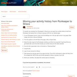 Moving your activity history from Runkeeper to Strava – Strava Support