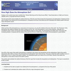 Activity 2 Teacher Guide: How High Does the Atmosphere Go?