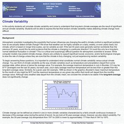 Activity 9 Teacher Guide: Climate Variability