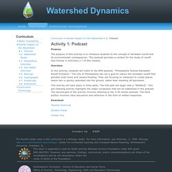 Activity 1: Podcast - Watershed Dynamics