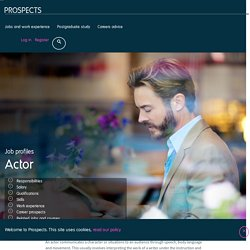 Actor job profile