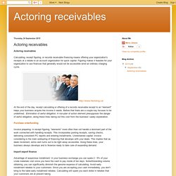 Actoring receivables: Actoring receivables