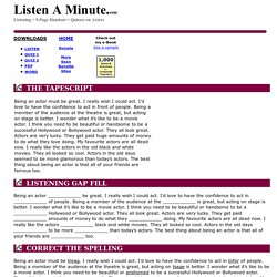 Actors: Listen A Minute.com: English Listening Lesson