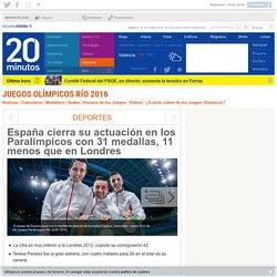 España cierra su actuación en los Paralímpicos con 31 medallas, 11 menos que en Londres