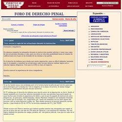 Foros de Derecho: Acceso a copia de las actuaciones durante la instrucción