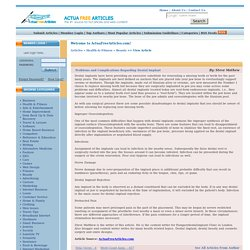 Problems and Complications Regarding Dental Implant ActuaFreeArticles.com free content free articles for web sites opt-in newsletters e-zines