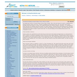 Benefits Revolving Around Online Survey Sites In India ActuaFreeArticles.com free content free articles for web sites opt-in newsletters e-zines
