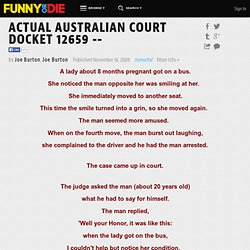 ACTUAL AUSTRALIAN COURT DOCKET 12659 -- from Joe Burton