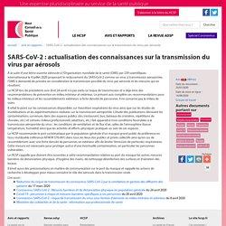 SARS-CoV-2: actualisation des connaissances sur la transmission du virus par aérosols