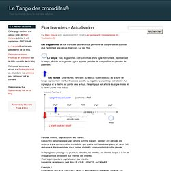 Flux financiers - Actualisation - Le Tango des crocodiles®
