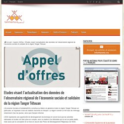 Etudes visant l'actualisation des données de l'observatoire régional de l'économie sociale et solidaire de la région Tanger Tétouan