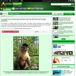 Le singe ne se laisse pas acheter par les Hommes qu'il juge égoïstes