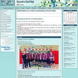 L'actualité du Lycée Alexandra David Néel - Accueil du site