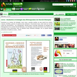 Livre : Anatomie et biologie des Rhinogrades de Harald Stümpke