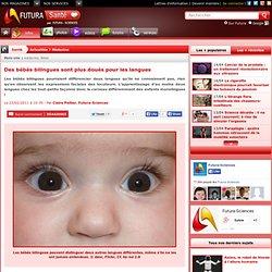 Des bébés bilingues sont plus doués pour les langues