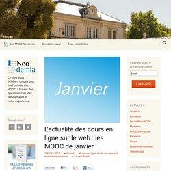 L'actualité des cours en ligne sur le web : les MOOC de janvier