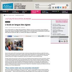 L'actualité Education Jeunesse - Conseil départemental de l'Essonne - CD91