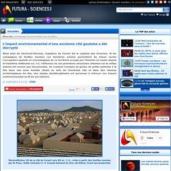 L'impact environnemental d'une ancienne cité gauloise a été décrypté