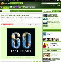 Earth Hour : éteignez la lumière samedi soir !