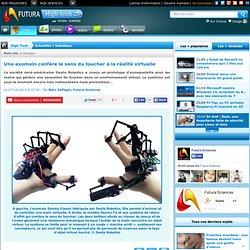 Une exomain confère le sens du toucher à la réalité virtuelle