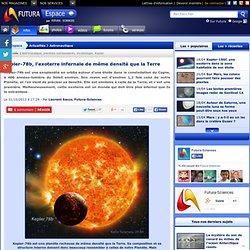 Kepler-78b, l'exoterre infernale de même densité que la Terre