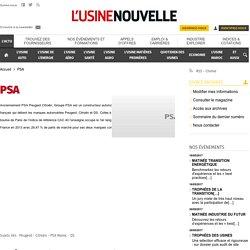PSA – Actualité économique et industrielle de PSA