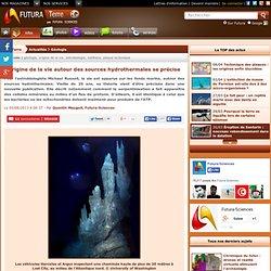 L'origine de la vie autour des sources hydrothermales se précise