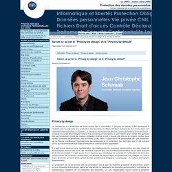 """Savoir ce qu'est le """"Privacy by design"""" et le """"Privacy by default"""" - Fil d'actualité du Service Informatique et libertés du CNRS"""