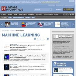 Toute l'Actualité Machine Learning du Monde Informatique