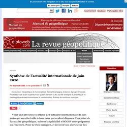 Votre synthèse de l'actualité internationale de juin 2020 sur Diploweb