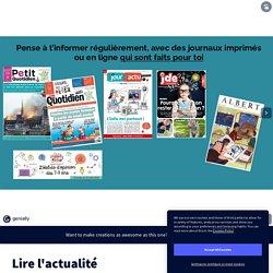 Lire l'actualité by anne.lechaudel on Genially