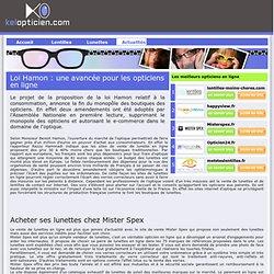 Actualité lunettes et lentilles en ligne