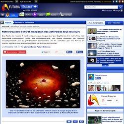 Notre trou noir central mangerait des astéroïdes tous les jours