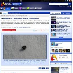 La météorite de l'Oural pesait près de 10.000 tonnes