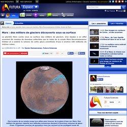 Mars : des milliers de glaciers découverts sous sa surface
