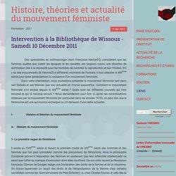 Histoire, théories et actualité du mouvement féministe