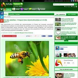 FUTURA SCIENCES 26/09/12 Déclin des abeilles : l'impact des néonicotinoïdes a-t-il été exagéré ?